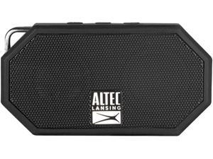 Altec Lansing IMW257-BLK Mini H2O Wireless Bluetooth Waterproof Speaker, Floating IP67 Waterproof, Boat, Hiking, Golf Cart, Atv, Utv, Lightweight, 6-Hour Battery Life, Black, 2.00 x 4.50 x 5.00 inches