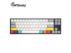 Ducky X Varmilo MIYA Pro Ergonomic Design,Cool Exterior 68Keys Type-C Detachable 4.0 Bluetooth and USB Wired Dual-mode Mechanical Keyboard,PBT Keycaps - CMYK Verison( Bluetooth Adapter Included)