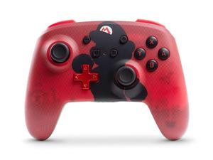 PowerA Enhanced Wireless Controller for Nintendo Switch Mario Silhouette red