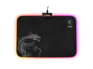 MSI GD60 AGILITY 60 Version RGB Light Mouse Pad, Clothing Surface-386X290X10.2mm