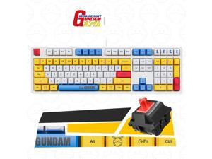 iKBC X GUNDAM  RX-78-2 Limited Version Cherry MX Red USB Wired Mechanical Gaming Keyboard( Mouse Pad is Not Included)