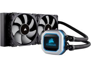 CORSAIR HYDRO Series H100i PRO RGB AIO Liquid CPU Cooler, 240mm Radiator, Dual 120mm ML Series PWM Fans, Advanced RGB Lighting and Fan Software Control, Intel 115x/2066 and AMD AM4 compatible