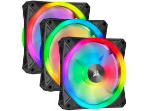 Corsair QL Series iCUE QL120 RGB 120mm RGB LED PWM White Fan Triple Fan Kit with Lighting Node Core