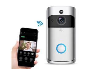 Smart Wifi Video Doorbell, 720P HD Security Camera Real-Time Two-Way Talk/Video, Night Vision, PIR Motion Detection and App Control for IOS and Android