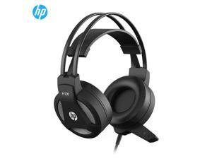 HP H100 Stereo Gaming Headset  Over Ear Headphones with Mic, Skin-friendly Leather Earmuffs