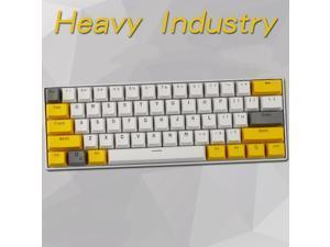 CORN 61 Key Layout OEM Profile PBT Thick Keycaps for 60% Mechanical Keyboard for RK61,GANSS ALT61,IKBC poker,Annie PRO,GH60,iqunix f60-Light Through Version