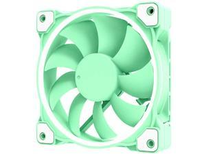 ID-COOLING ZF-12025 Pastel 120mm Case Fan White LED PWM Fan for PC Case/CPU Cooler (Mint Green)