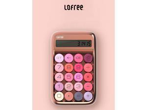 LOFREE Lipstick Calculator- Blue Switch Experience, Portable and Mini Design LCD Screen-Rose Gold