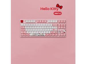 CORN 87 Hello Kitty TKL Gaming Mechanical Keyboard  Double Shot Dye Sub PBT Keycaps NKRO Detachable USB Type-C