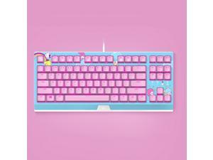 Razer HelloKitty I SANRIO Pink Wired Keyboard Exclusive 87 Key Backlit Mechanical Keyboard