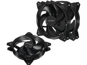 uphere Long Life Computer Case Fan 120mm Cooling Case Fan for Computer Cases Cooling Black 3-Pack, PF120BK3-3