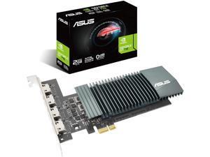 ASUS NVIDIA GeForce GT 710 Graphics Card (PCIe 2.0, 2GB GDDR5 Memory, 4X HDMI Ports, Single-Slot Design, Passive Cooling)