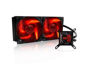 PC Cooler Surge 240 Liquid cooling Radiator Dual 120mm Silent Red LED Fans Water CPU Cooler Socket LGA 775 1155 1150 1156 1366 2011 FM2 FM1 AM3+ AM3 AM2+ AM2