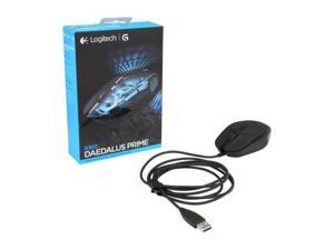 Logitech G302 Daedalus Prime Moba 910-004205 Black 6 Buttons 1 x Wheel USB Wired Delta Zero sensor 4000 dpi Gaming Mouse