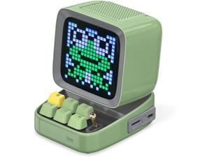 Divoom Ditoo Pixel Art Gaming Portable Bluetooth Speaker with App Controlled 16X16 LED Front Panel, Also a Smart Alarm Clock