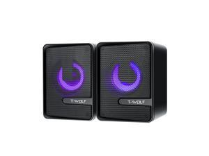 Thunder Wolf S3 Computer Speaker USB Light Double Diaphragm Subwoofer Mobile Phone Notebook Stereo