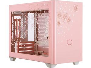 Cooler Master MasterBox NR200P Sakura Limited Edition Mini ITX Computer Case - Tempered Glass Side Panel, Excellent Cooling Options, Vertical GPU Display