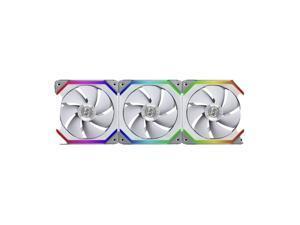 CORN UNI FAN SL120 RGB White 3X 12CM FAN PACK WITH CONTROLLER ---UF-SL120-3W