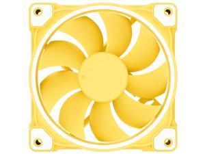 ZF-12025 Pastel 120mm Case Fan White LED PWM Fan for PC Case/CPU Cooler