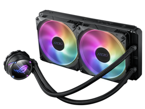 ASUS ROG STRIX LC II 280 ARGB All-in-one Liquid CPU Cooler With Aura Sync, Intel®LGA 1150/1151/1155/1156/1200/2066 and AMD AM4/TR4 Support And Dual ROG 140 mm Addressable RGB Radiator Fans