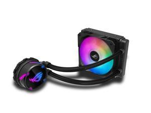 ASUS ROG Strix LC 120 RGB AIO Liquid CPU Cooler 120mm Radiator, 120mm 4-pin PWM Fan with FanXpert Controls, support for Intel and AMD motherboards