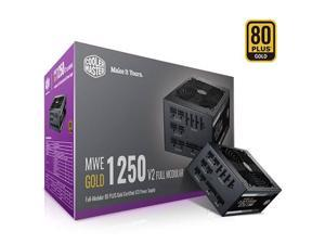 Cooler Master MWE Gold 1250 V2 Fully Modular, 1250W, 80+ Gold Efficiency, Quiet HDB Fan, 2 EPS Connectors, High Temperature Resilience