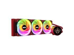 Tt Thermaltake Iron Man Chinese Special Edition CPU Water cooling 360 Radiator, Rotating OLED screen water cooling, Three PWM Silent 120mm fan
