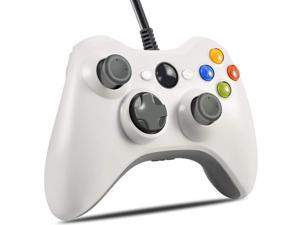 Xbox 360 Wired Controller, CORN USB Gamepad, Joypad with Shoulders Buttons, for Microsoft Xbox360/Xbox 360 Slim/PC Windows 7 8 10 Game (White)