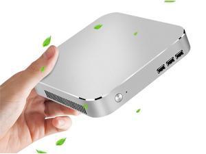 CORN Desktop Computer - Celeron J1900, 4GB RAM, 120GB SSD, Wifi HDMI/VGA Mini PC,  Windows 10 Pro 64-bit Pre-installed for Office Work And Student