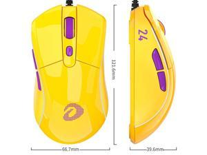 Dareu A960 gaming mouse 65g lightweight, soft-wired mice pmw3389 16000 dpi 50 million click times