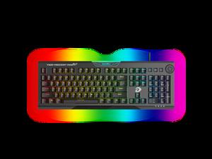 Dareu EK925 Mechanical Gaming Keyboard RGB LED Rainbow Backlit Wired Keyboard with Yellow Switches for Windows Gaming PC (104 Keys, Black)