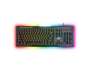 Dareu EK925 Mechanical Gaming Keyboard RGB LED Rainbow Backlit Wired Keyboard with Black Switches for Windows Gaming PC (104 Keys, Black)