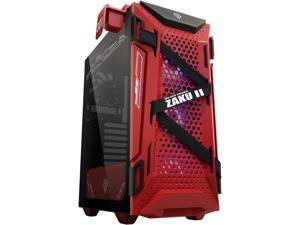 ASUS TUF Gaming GT301 ZAKU II EDITION, with tempered glass side panel, honeycomb front panel, 120mm AURA Addressable RGB fan, headphone hanger and 360mm radiator support, Gundam edition ATX mid-tower
