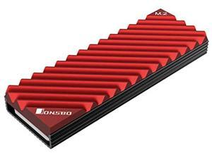 M.2 Solid-State Hard Drive Cooler, NVME Hard Drive 2280, With Cooling Pad M.2 All-Aluminum Cooler (Red)