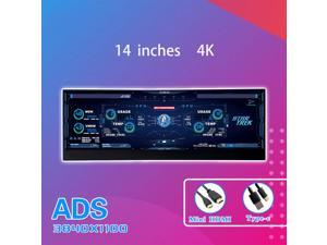 """CORN Secondary Screen, AIDA64 Data Monitoring for Computer Monitoring LCD Display - 355mm x 125mm x 12 mm(14""""), 3840 x 1100(4K), ADS Screen, 60Hz Refresh Rate, 100% Color Gamut"""