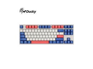 Ducky One 2 87 Bon Voyage Edition, All Non-conflicting 87 Keys, Cherry MX Mechanical Gaming Keyboard, PBT Keycaps