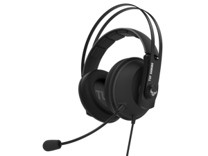 ASUS TUF GAMING H7 GUN METAL PC and PS4 gaming headset with onboard 7.1 virtual surround and upgraded ear cushions for eyewear comfort,support for PC, Mac, PS4, Nintendo Switch, mobile and Xbox One