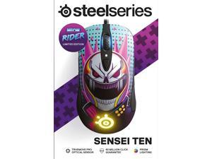 SteelSeries Sensei Ten Neon Rider Limitted Edition Gaming Mouse – 18,000 CPI TrueMove Pro Optical Sensor – Ambidextrous Design – 8 Programmable Buttons – 60M Click Mechanical Switches – RGB Lighting