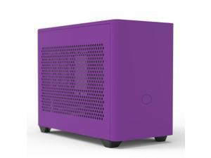 Cooler Master MasterBox NR200P Nightshade Purple New Version Mini ITX Computer Case - Vented Panel, Excellent Cooling Options, Vertical GPU Display