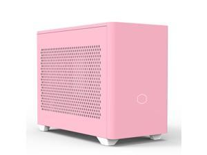 Cooler Master MasterBox NR200P Flamingo Pink New Version Vented Panel Mini ITX Computer Case with PCI Riser Cable - Excellent Cooling Options, Vertical GPU Display