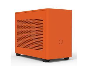 Cooler Master MasterBox NR200P Sunset Orange New Version Mini ITX Computer Case - Vented Panel, Excellent Cooling Options, Vertical GPU Display
