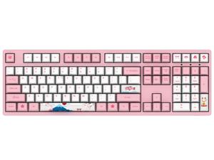 CORN 3108V2 World Tour Tokyo Sakura Pink Gaming Mechanical Keyboard Double Shot Five-Side Dye Sub PBT Keycaps NKRO Detachable USB Type-C