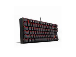 Corn LED Backlit K552 Mechanical Gaming Keyboard Compact 87 Key Mechanical Computer Keyboard KUMARA USB Wired Cherry MX Blue Equivalent Switches for Windows PC Gamers (Black RED LED Backlit)