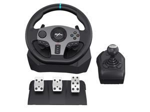 CORN PC Racing Wheels PXN V9 270/900°Game Racing Wheel, Dual-Motor Feedback Driving,with Pedals and Joystick PC Steering Wheel,Suitable for Xbox /Xbox One/PS3/PS4/PC/Xbox One/N-Switch