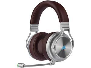 Corsair Virtuoso RGB Wireless SE Gaming Headset - High-Fidelity 7.1 Surround Sound W/Broadcast Quality Microphone, Memory Foam Earcups, 20 Hour Battery Life, Works w/PC, PS5, PS4 - Brown