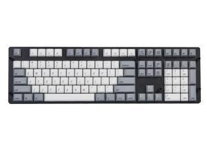 Magicforce Keycaps, Heat Sublimation 108 PBT Keycap Set for Mechanical Keyboard -Keycaps Only (White / Grey)
