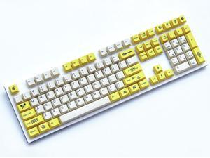 Magicforce 112 Key Little Bee Dye Sublimation  PBT  Keycap Set for Mechanical Keyboard -Keycaps Only (Yellow)