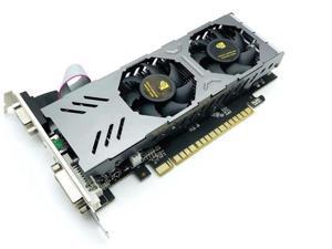 CORN GTX 750 128-Bit 4GB GDDR5 Graphic Card with dual fans DirectX12 Video Card GPU PCI Express 3.0 VGA/DVI-D/HDMI, Play for LOL, PUBG, OW, War Thunder, etc.