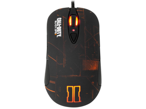 SteelSeries Call of Duty Black Ops II 62157 Black / Orange 7 Buttons 1 x Wheel USB Wired Laser Gaming Mouse