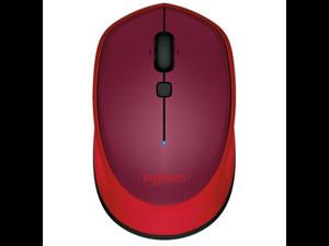 Logitech M336 Bluetooth Wireless Laser-grade optical 1000 dpi Mouse - Red